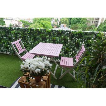 Table de jardin pliante carrée BURANO CITY GREEN Rose pâle ...