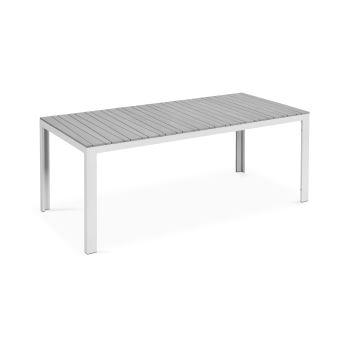 Table de jardin 8 places aluminium et polywood Blanc - Mobilier de ...