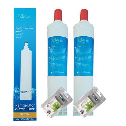 2 X Filtre Ecoaqua Eff6002A Remplace Whirlpool Sbs002, Sbs001, Sbs200 Avec 2 Filtres Antibactérien Microban Whirpool