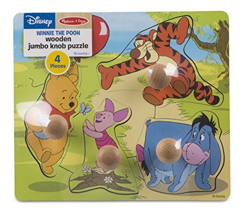 Melissa Doug Disney Baby Winnie the Pooh and Friends Jumbo Knob Wooden Puzzle