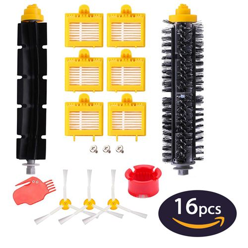 Kit de 16 Accessoires pour Aspirateur iRobot Roomba Serie 700 720 750 760 765 770 772 772e 774 775 776 776p 780 782 782e 785 786 786p 790 Hobby Tech