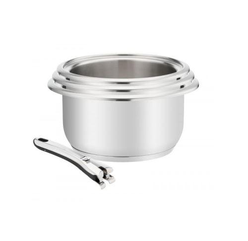 série de 3 casseroles inox 16/18/20cm + poignée - 012143600004