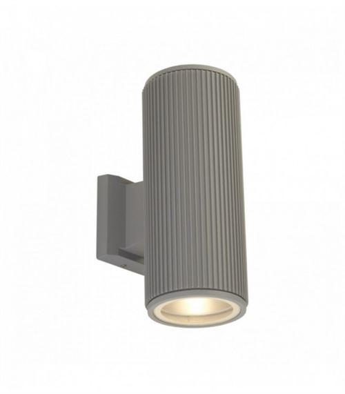 Applique extérieur haut / bas / porche transparent - gris avec verre transparent
