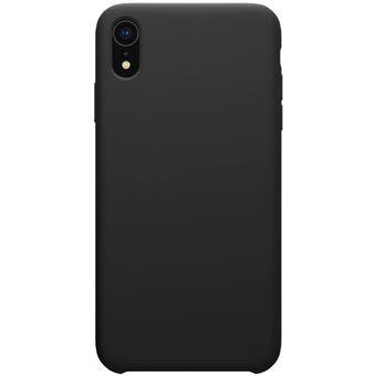 Coque en silicone liquide noir pour votre Apple iPhone XR