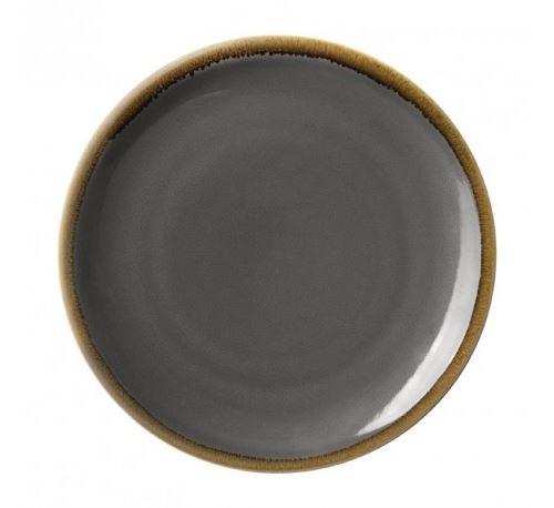 Assiette plate ronde grise - 280 mm