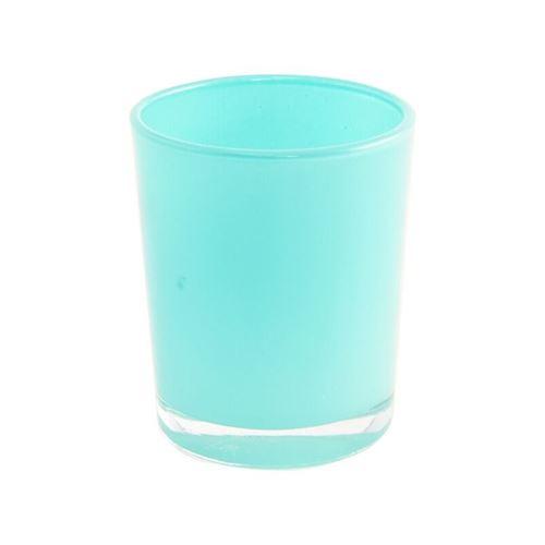 bougeoir turquoise brillant 5.6x6.5cm