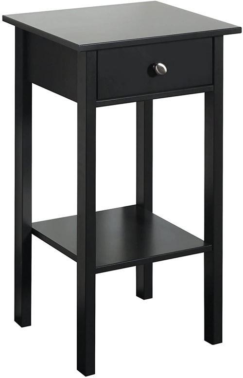 Table de nuit coloris café noir en MDF - 70 x 40 x 35 cm -PEGANE-
