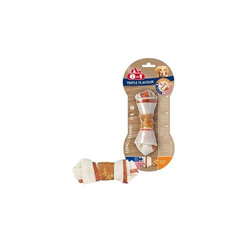 8in1 Triple Flavour Os A Macher Premium M Aux Boeuf, Porc, Poulet - Pour Chien De Race Moyenne - 1 Piece