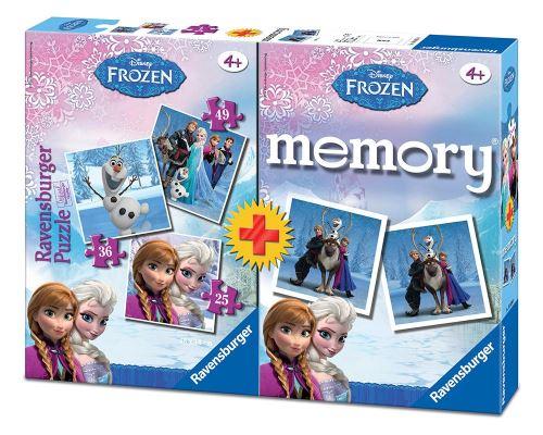 La Reine des Neiges Pack Memory+puzzle triple