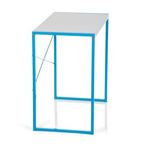 d'ordinateur bureau clair OFFICE bleu Table blanc hjh UP informatique EASY mNwO0v8n