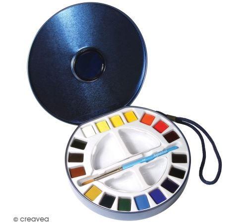 Boîte aquarelle de voyage - 18 couleurs