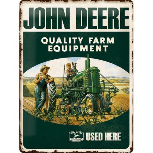 Plaque métallique John Deere