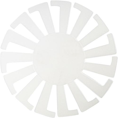 Creotime modèle de tissage panier 14 x 8 cm blanc 10 pièces