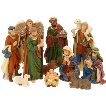 11 Figurines De Crèche De Noël   Nativité   Santons De Noël