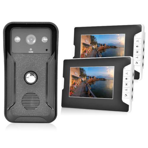 Sonnette 7'' Vision nocturne carte d'identité sécurité interphone caméra vidéo
