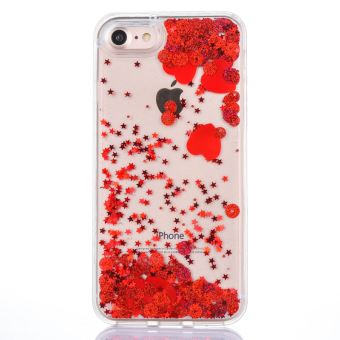 coque iphone 6 rouge paillette