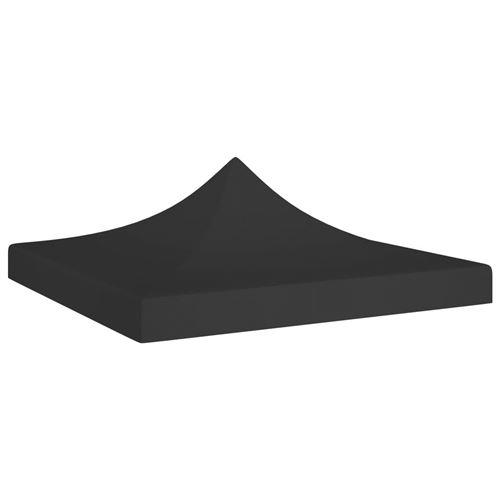 Toit de Tente de Réception 3X3 M 270 G/M² - Noir