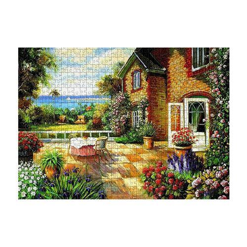 Puzzle 1000 pièces pour enfants et adultes - villa - Multicolore