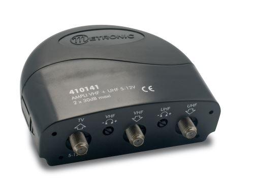 Amplificateur coupleur 2 entrées UHF+VHF