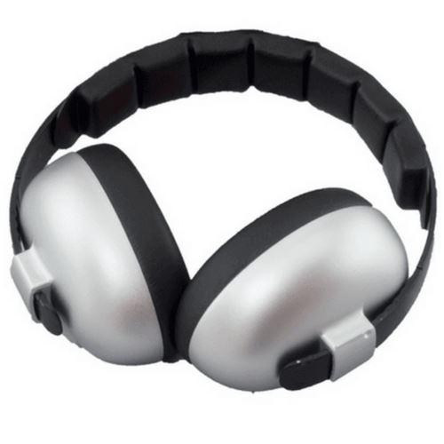 Casque Anti-Bruit pour Enfant Banz Earmuffs, Gris Argenté