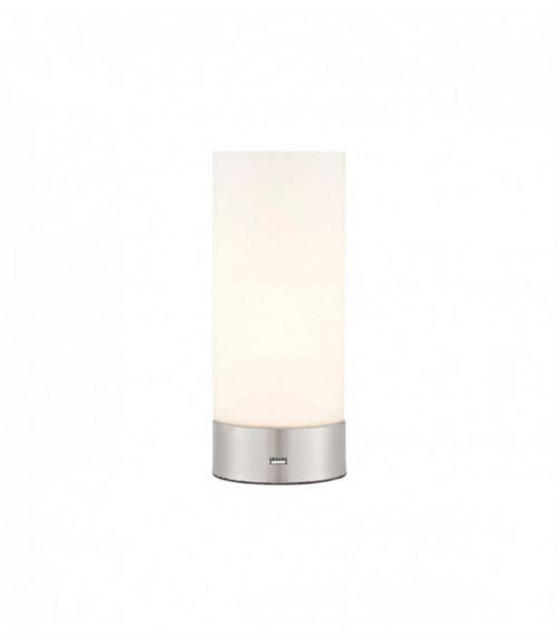 Lampe Dara, nickel brossé et verre opale