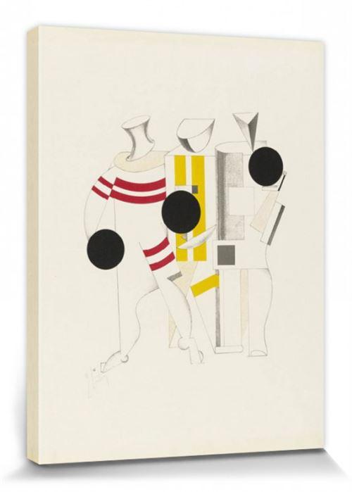 El Lissitzky Poster Reproduction Sur Toile, Tendue Sur Châssis - Victoire Sur Le Soleil, Athlètes, 1923 (40x30 Cm)
