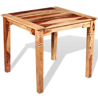 Vidaxl Table à Manger Table De Cuisine Bois De Sheesham Massif 82 X