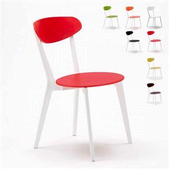 Stock 20 Chaises design cuisine bar restaurant CUISINE paesana, Couleur: Rouge