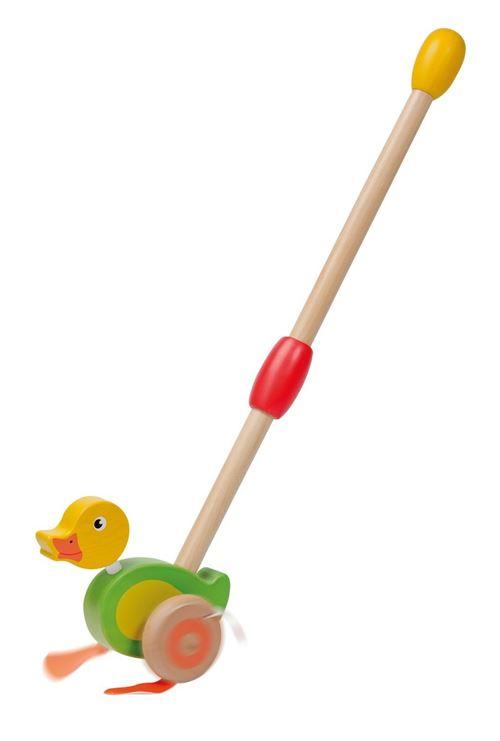 Jouéco duwfiguur de canard en bois