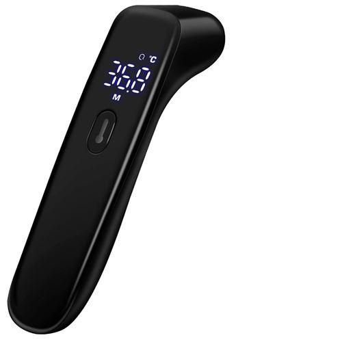 Thermomètre frontal sans contact à infrarouge numérique - Noir