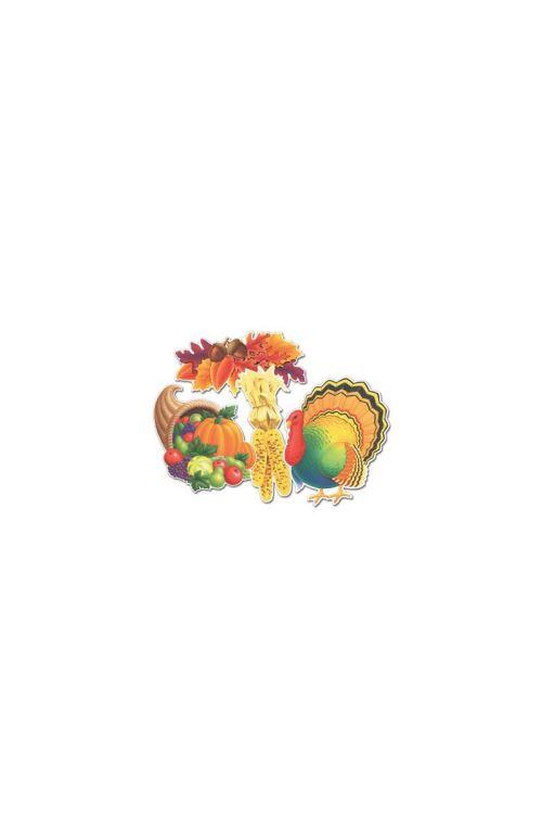 Pack De 4 Décorations De Thanksgiving - Marron