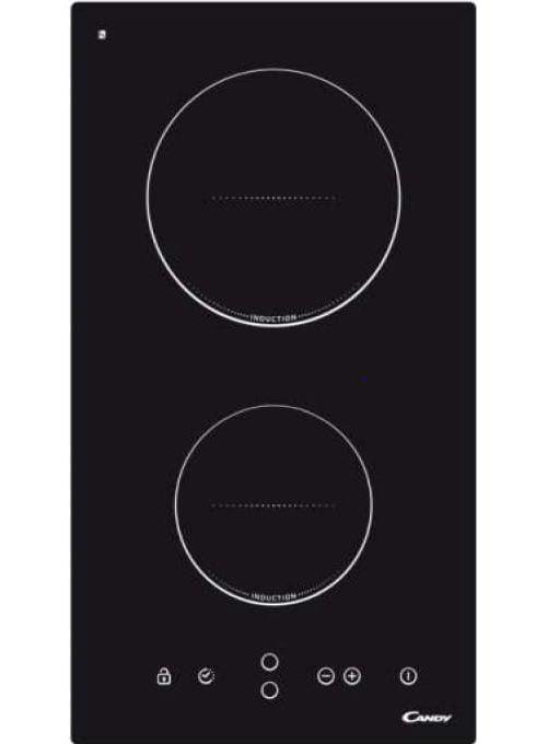 Candy CDI30 - Table de cuisson à induction - 2 plaques de cuisson - largeur : 38 cm - profondeur : 51 cm - noir