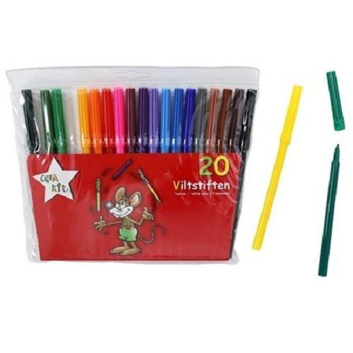 Crea-kit feutres de couleur junior 20 pièces