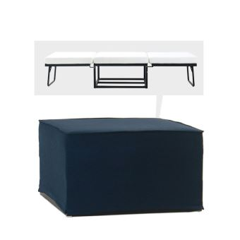 5% sur Pouf convertible lit tissu Jazz - Couleur - Bleu marine ...