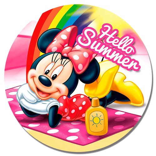 Disney serviette de plage Minnie Mouse 120 cm polyester rose