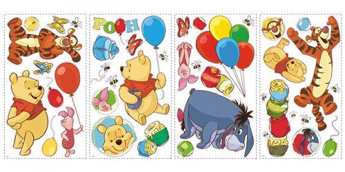RoomMates stickers muraux Winnie l'ourson vinyle 38 pièces
