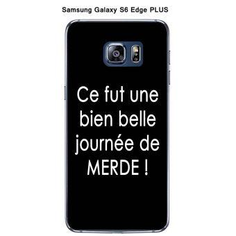 Coque Samsung Galaxy S6 Edge Plus design Citation Ce fut une Texte blanc fond noir