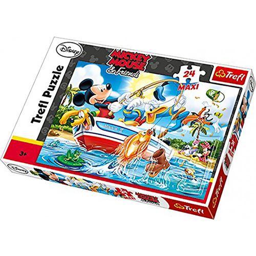 Maxi puzzle mickey et ses amis 24 pièces - puzzle 3 ans et +