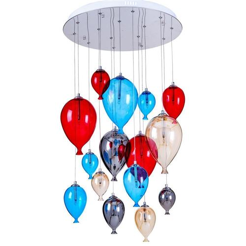 Suspension Multicolore Balloon, 15x G4-20W, IP20, 230V, Classe I