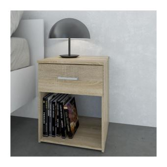 SPACE Table de nuit contemporain - Chene structuré - L 37 cm - Achat ...