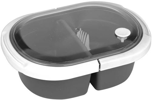 Take Away - Lunch box 2 compartiments fermeture à clip Blanc