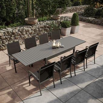 Table 135270cm extensible jardin Avril de Paris aluminium SMqUzVp