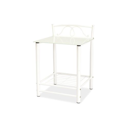 Table de chevet - ET920 - 49 x 46 x 65 cm - Blanc