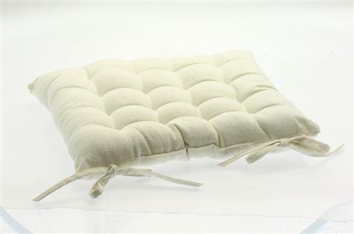 Coussin pour chaise de jardin Ivoire 38 x 38 cm