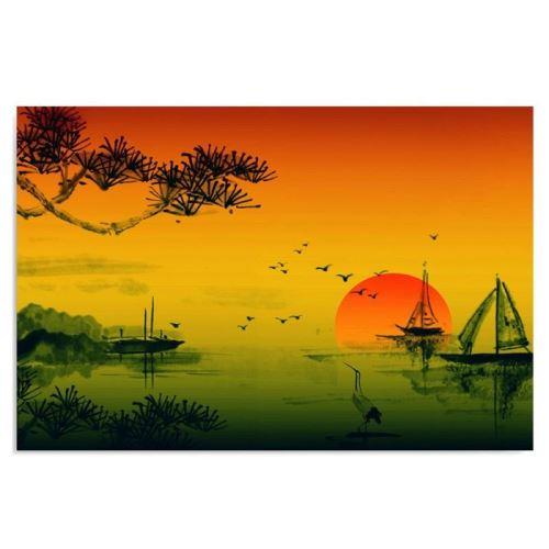Tableau sur toile Cadre décoratif Image Art Canevas Paysage Japon 2 70x50
