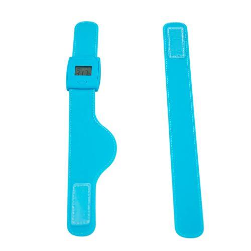 Thermomètre Bluetooth pour bracelet de température intelligent pour bébé adulte BT021 - Bleu