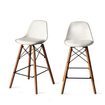 lot de 2 tabourets de bar 64cm ormond steelwood couleur. Black Bedroom Furniture Sets. Home Design Ideas