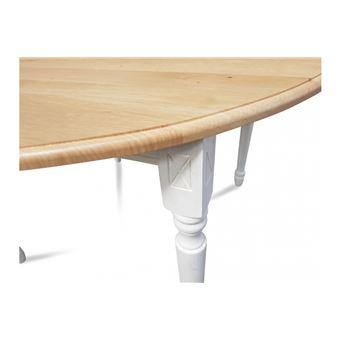 Table extensible ronde bois à rallonges - 115 cm - Pieds tournés - VICTORIA  - Achat   prix   fnac 0cd68569a1a8