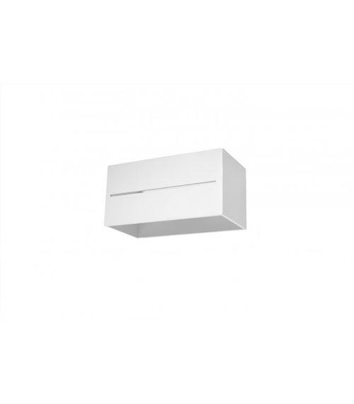 Applique murale LOBO MAXI aluminum blanc 2 ampoules
