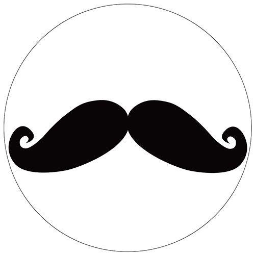Set de 4 dessous de verres ronds Moustache noire by Cbkreation